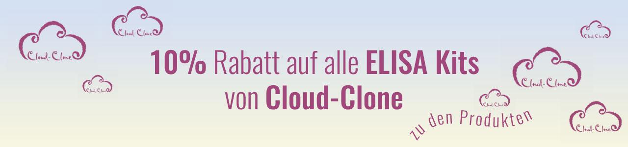 10%rabatt auf alle ELISA-Kits von Cloud Clone